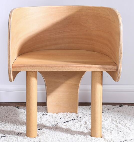 Solid Wood Children Chair Cute Elephant Cartoon Stool Study Chairs
