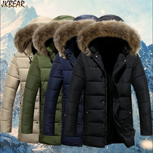 2016 New-arriving Raccoon Fur Hooded Warm Puffer Parka for Men Fashionable Male's Fall Winter Casual Cotton Coat Plus Size M-4XL