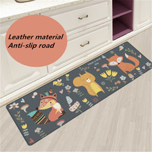 2019 new Nordic kitchen mat carpet leather mats oil-proof waterproof bedroom strips home massage pvc
