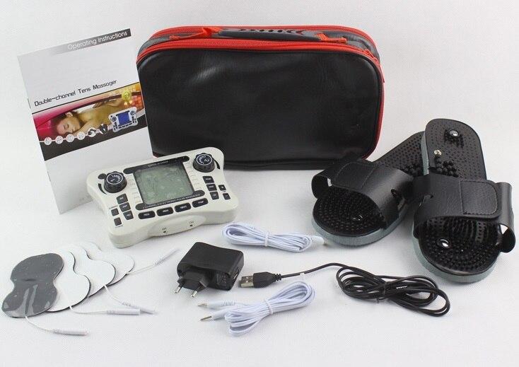 TENS UNIT/двухканальный выход TENS EMS облегчение боли электрический стимулятор нервных мышц цифровой терапевтический массажер физиотерапия