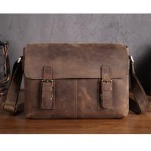 da302cc8ddff YISHEN Vintage Men Messenger Bag Genuine Leather Men Shoulder Bags Retro  Trend Small Flap Bag Male Travel Crossbody Bags 2761
