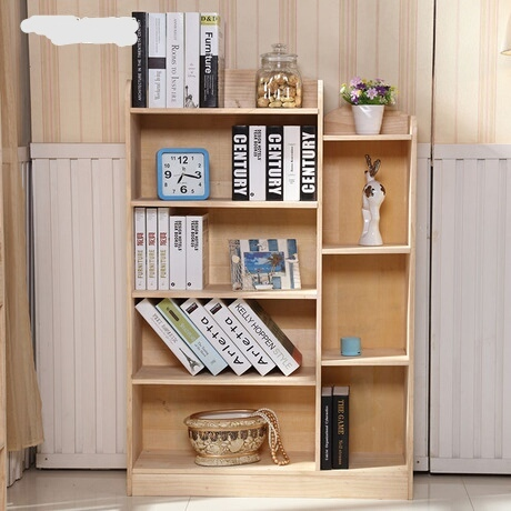Bookcases Living Room Furniture Home Pine Solid Wood Bookshelf Storage Rack Minimalist Cabinet Display Book