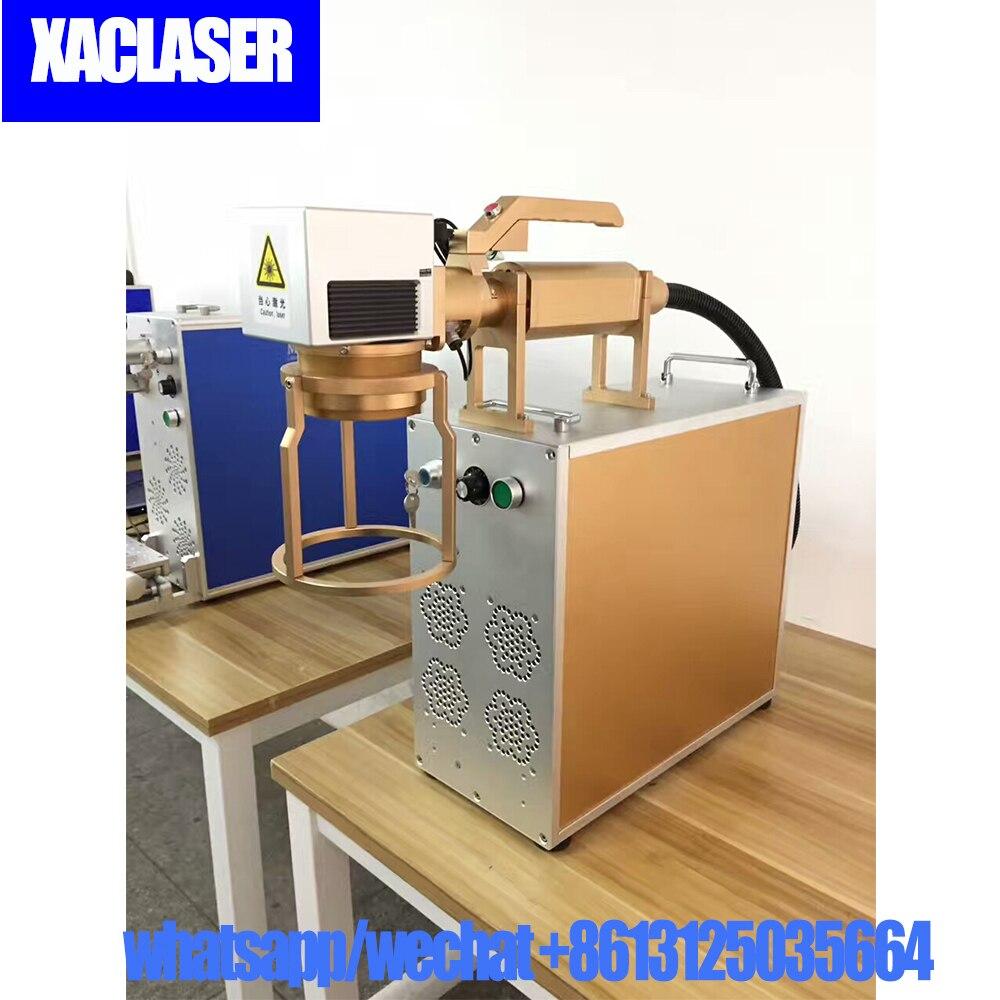 Mini Fiber Laser Marker 20W 30W Desktop Phonecase Logo Laser Printing Machine For Small Seller DIY Usage