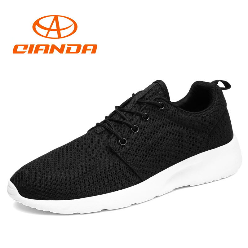 QIANDA Brand 2018 Summer Running Shoes for Men Breathable Mesh Man Sneakers Light Cushioing Outdoor Sport Walking Jogging Shoe