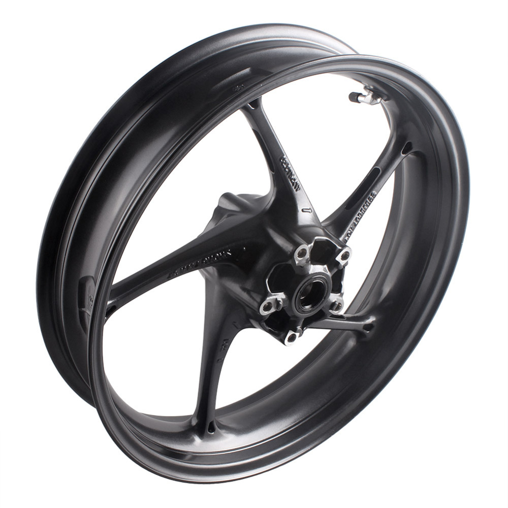 Motorcycle Front Wheel Rim For Triumph Daytona 675R & Street Triple R 2013 2014 Matte Black Aluminum Alloy High Quality