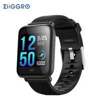 Diggro Q9 Blood Pressure Heart Rate Monitor Smart Watch IP67 Waterproof Sport Fitness Tracker Watch Men Women Smartwatch