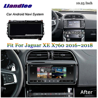 Liandlee 10.25Inch Android For Jaguar XE XEL X760 2015~2018 Stereo Tesla style Video Carplay Map GPS Navi Navigation Multimedia