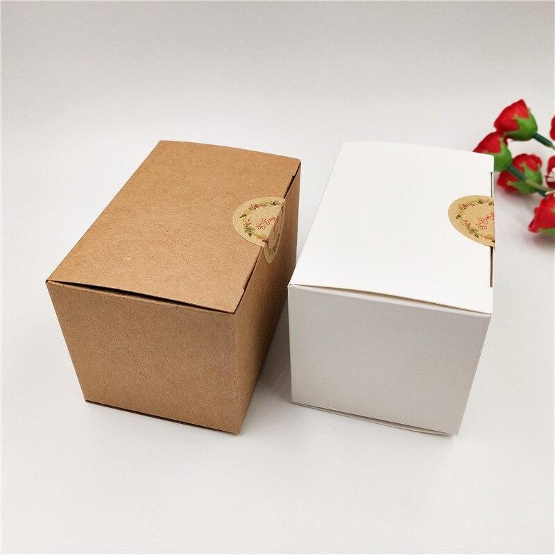 Retro Kraft Paper Gift Box Handmade Soap Packing Box Jewelry/Cake/Candy Storage Paper Packaging Box 9x6x6cm