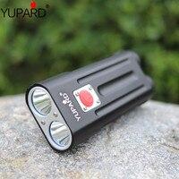YUPARD 2000 لومينز 2 في 1 مصباح يدوي إضاءة دراجة هوائية الدراجة مصباح 2 * T6 led الطاقة الشعلة قابلة للشحن 18650 بطارية في الهواء الطلق التخييم
