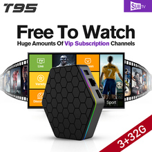 3 GB T95Zplus Android 6.0 Smart TV Box S912 Octa Core 2.4/5 GHz WiFi 4 K Europa Brasil árabe IPTV Caja 3500 Canales