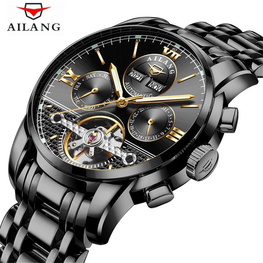 2018 Top-marke Luxusuhr Tourbillon Mechanische Wasserdichte Uhr Geschäfts Mode Edelstahl Armbanduhr Männliche Uhr Modische Und Attraktive Pakete