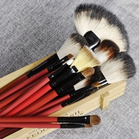 Quality Nature Hair Makeup Brush Set White Hair Red Handle Cosmetics Brush Kit Tools With Case