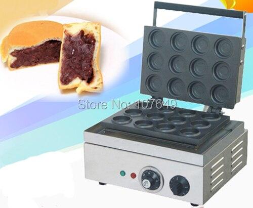 Hot Sale 110v 220V Commercial Use Electric 12pcs Red Bean Waffle Maker hot sale 32pcs gas bean waffle maker
