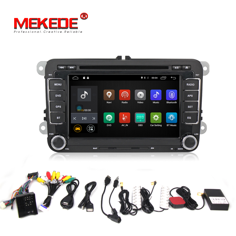 2G RAM Android 6 0 Two Din 7 Inch Car DVD Player For Skoda Octavia Fabia
