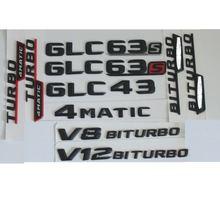 3d Матовый Черный багажный знак эмблема бейджи стикер для mercedes