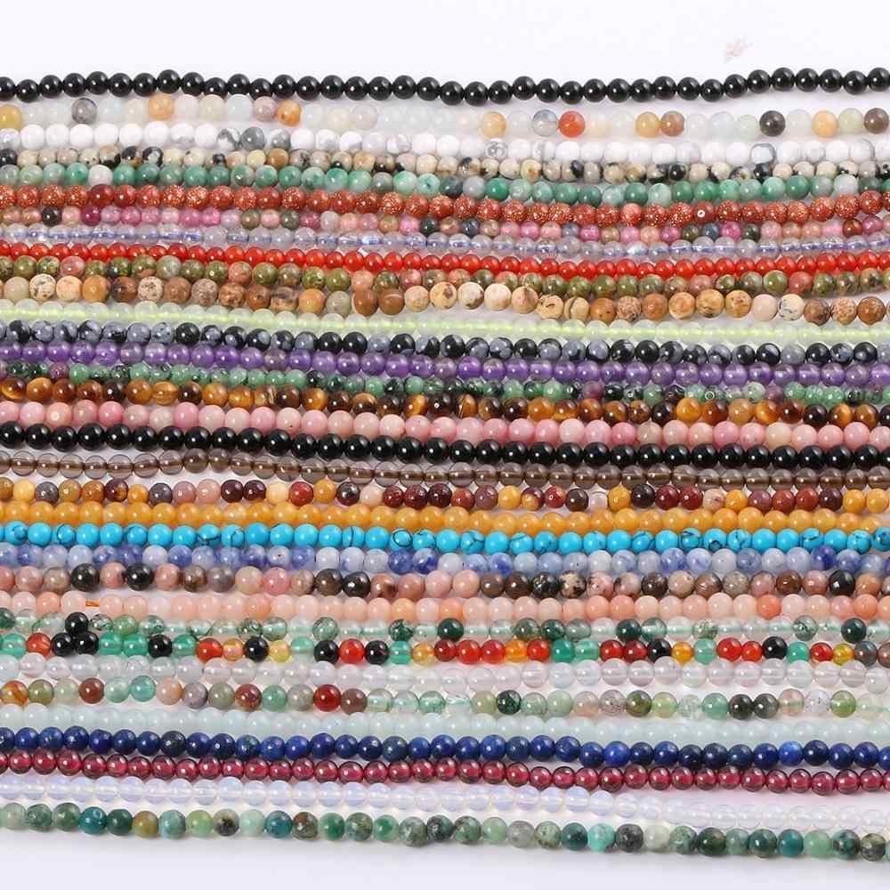 2020 nowy hurtownie kamień naturalny koraliki Rose quartz ametysty agaty koraliki do tworzenia biżuterii Beadwork DIY bransoletka 2mm 3mm