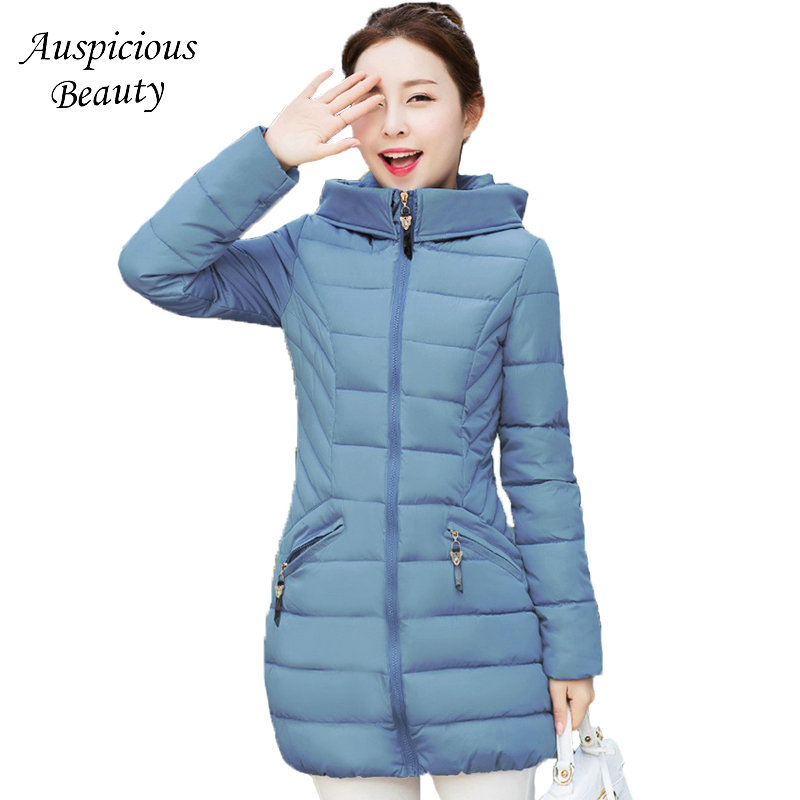 2017 New Hooded Women Winter Coats Female Winter Down Jacket Cotton Padded Parkas Autumn Outwear Female Wadded Overcoat CXM148 2017 new winter coats women winter short parkas female autumn cotton padded jackets wadded outwear abrigos mujer invierno w1492