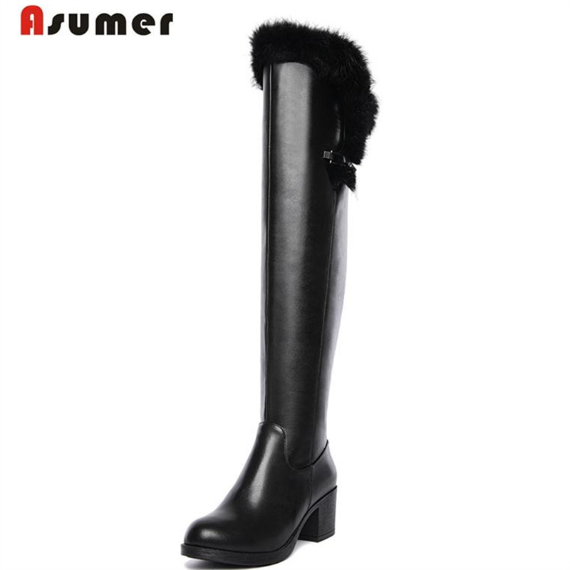 MORAZORA Winter over the knee boots high heels women shoes long boots fashion sexy microfiber + genuine leather boots only true love genuine leather shoes woman winter long boots square heels sexy women over the knee high boots
