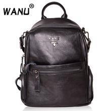 WANU спилок женские рюкзаки высокого качества модный рюкзак мягкая кожа роскошная женская сумка на плечо подарок для жены