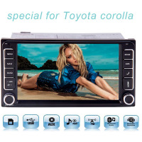 Free 8 GB Map Card Touch Screen 2 Din in Dash Head Unit Special for toyota Corolla with Built In Bluetooth, USB, SD,AM/FM Radio,