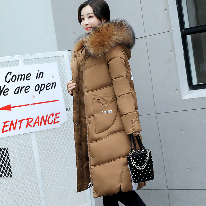faux fur coat autumn and winter women's long cotton-padded hooded jacket coat female plus size overcoat shearling jacket dotfashion faux fur hooded shearling lined coat 2017 grey zipper long sleeve top female single breasted knee length coat
