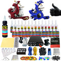Solong Tattoo Complete Tattoo Kit for Beginner Starter 2 Pro Machine Guns 28 Inks Power Supply Needle Grips Tips TK204-9
