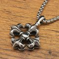 Vintage gothic two face cross  anchor Men Pendants necklace for women free shipping