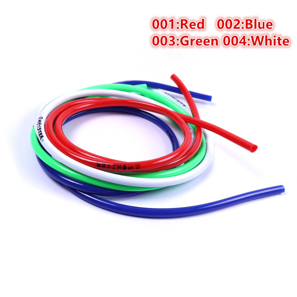 Durable 1pc 1 Meter Multi-color Rubber Motorcycle Bike Fuel Gas Oil Delivery Tube Hose Petrol Pipe I/D 4.3mm O/D 7mm Fuel Pipe цена