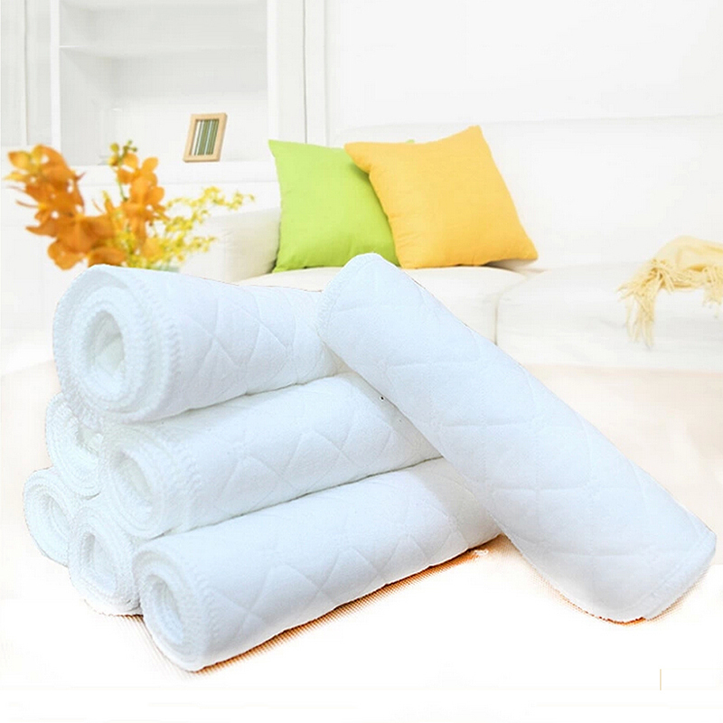 10pcs Reusable font b Baby b font Infant Cloth Diaper Nappy Liners Insert Cotton White Reusable