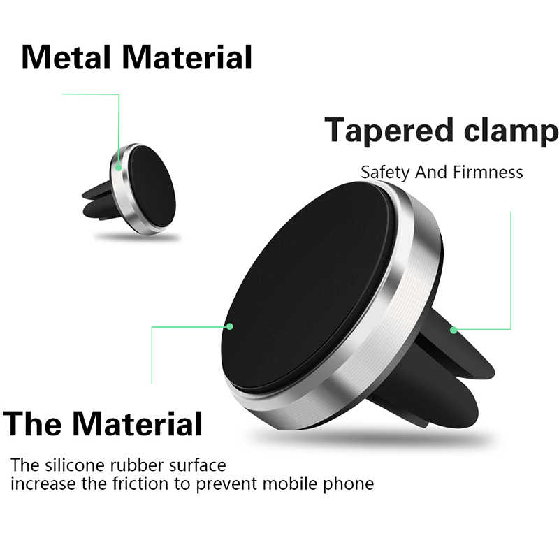 Magnetic Phone Holder Para O Telefone No Carro Air Vent Mount Suporte Universal Mobile Smartphone Fique Magnet Titular Celular Para Iphone 7