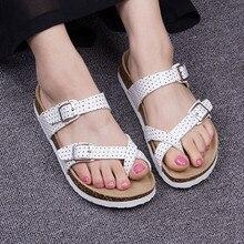 แฟชั่นใหม่ก๊อกฤดูร้อนรองเท้าผู้หญิงสบายๆสีผสมพลิกFlopsรองเท้าวาเลนไทน์Zapatos Mujer S Andaliasพลัสขนาด35-40