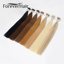 "FOREVER HAIR 0.8g/s 16"" 18"" 20"" Remy Micro Ring Beads Human Hair Extensions Light Blonde #613 Pre Bonded Nano Ring Human Hair"