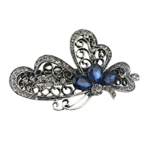 Fashion Blue Butterfly Hair Clip For Women Hair Accessories Trendy Jewelry New Arrival 1pc Female  Oct27