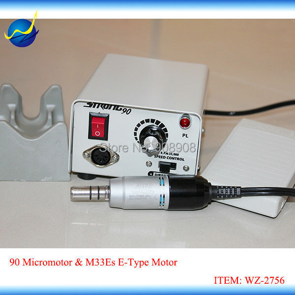 35K rpm Laboratory Brush STRONG 90 Electric Micromotors with M33Es E-Type Motor & Handpiece 220V gauss elementary a60 e27 7w 230v белый свет