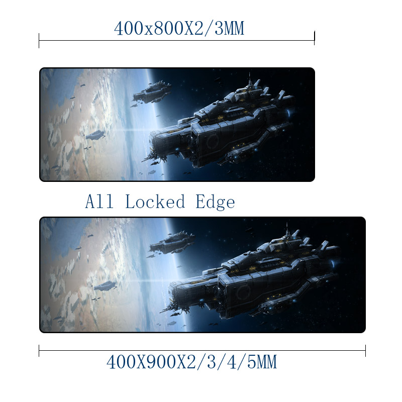 Mairuige Alien Space Ship Battleship Scenery Art Pictures Printing Mousepad Table Mat Mice Pad As A Gift for Friend Pc