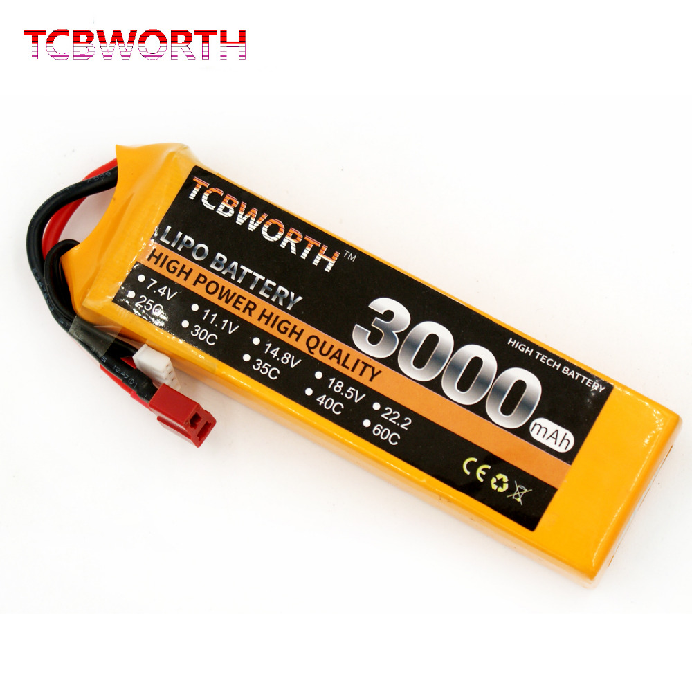 TCBWORTH LiPo Battery 3S 11.1V 3000mAh 60C Max 120C For RC Airplane Helicopter Quadcopter Drone CX20 Li-ion battery tcbworth rc drone lipo battery 3s 11 1 v 2200 mah 35c max 70c for rc airplane helicopter car li ion batteria akku