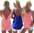 Мода Cami Топ Корейский Стиль 2016 Летом Женщины Сексуальная Новое Прибытие Простой Черный Спагетти Ремень Кружева V Шеи Бретели