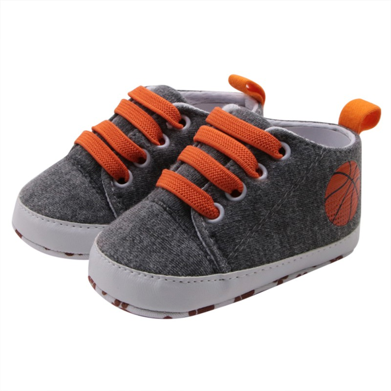 Cute Baby Boys Girls Cross-tied Solid Shoes Toddler Printing Soft Sole Anti-slip Shoes Sneakers Casual First Walker 2018 New