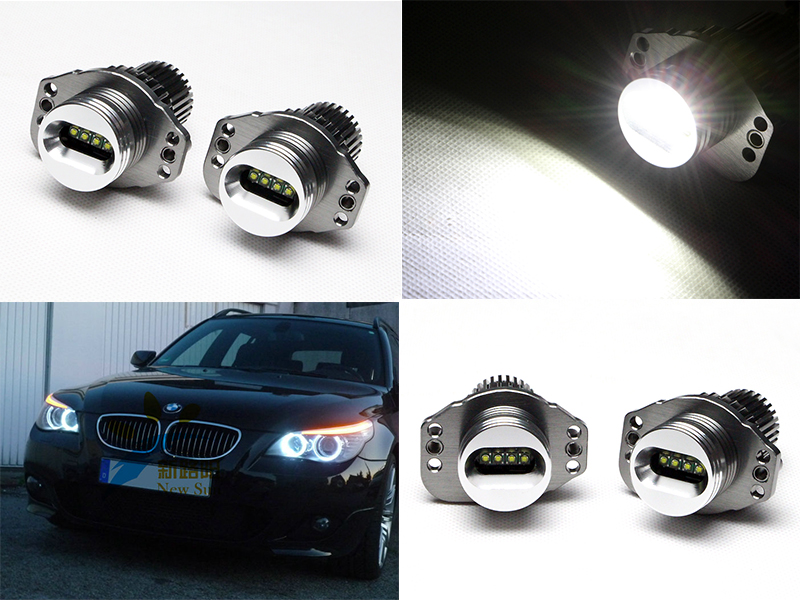 2Pcs 20W Car LED Side Marker Bulb Angel Eye Halo Ring Light For BMW E90 E91 Error Free 6500K цены онлайн