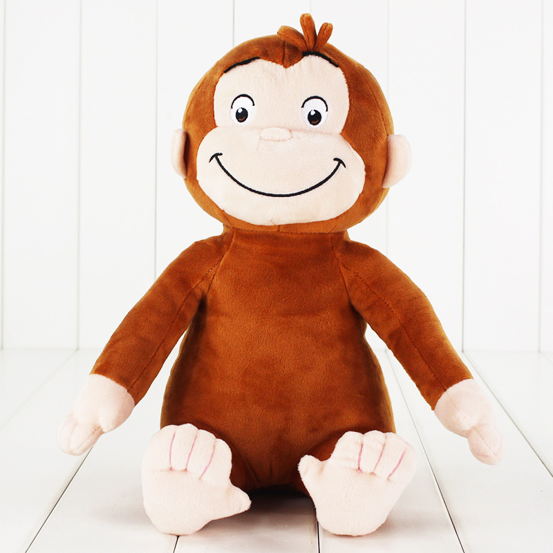 1pcs 30cm Curious George Monkey Plush Stuffed Toy Doll Children Gifts