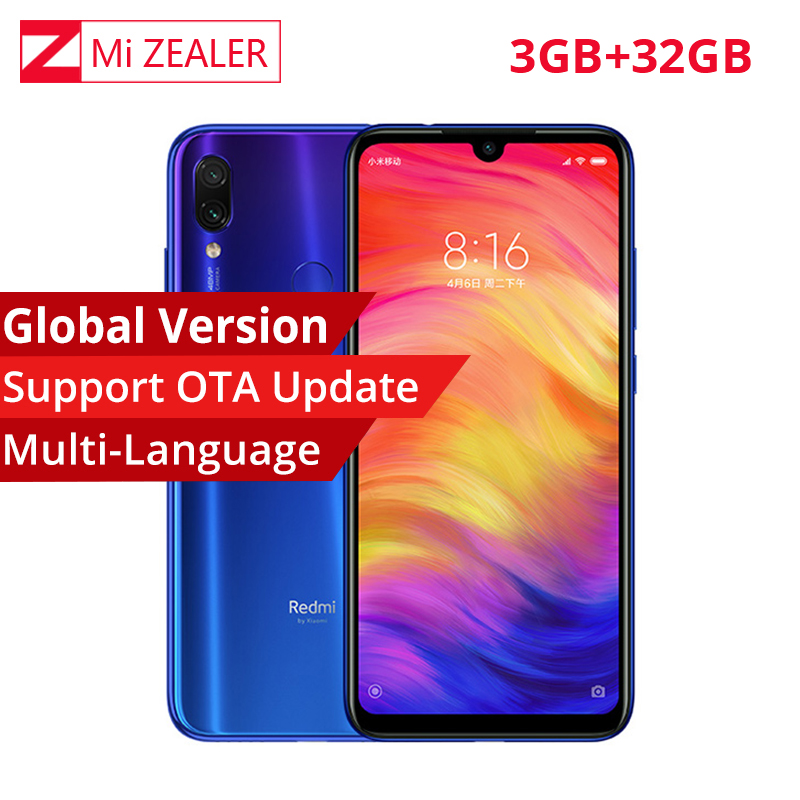Global Version Xiaomi Redmi Note 7 6.3 Inch 3GB RAM 32GB ROM 48.0+5.0 MP Rear Camera Snapdragon660 Octa Core Smartphone