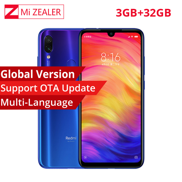 Version globale Xiaomi Redmi Note 7 6.3 pouces 3GB RAM 32GB ROM 48.0 + 5.0 MP caméra arrière snapdragon 660 Octa Core Smartphone