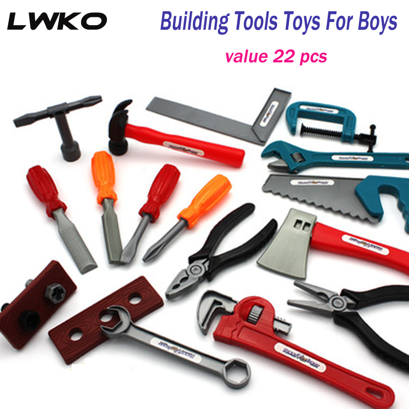 Pretend Play Lwko 22pcs/set Boys Toy Building Tools Ax Carpentry Popsocket Pretend Play For Children Educational Set Gifts