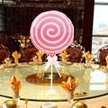 1 unidades de 18 pulgadas Pink Lollipop globos globos para cumpleaños de los niños globos de la burbuja redonda (no incluir la barra)