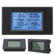 DC 100A цифровой светодиодный Мощность метр Мониторы Мощность энергии Вольтметр Амперметр Вт измеритель напряжения