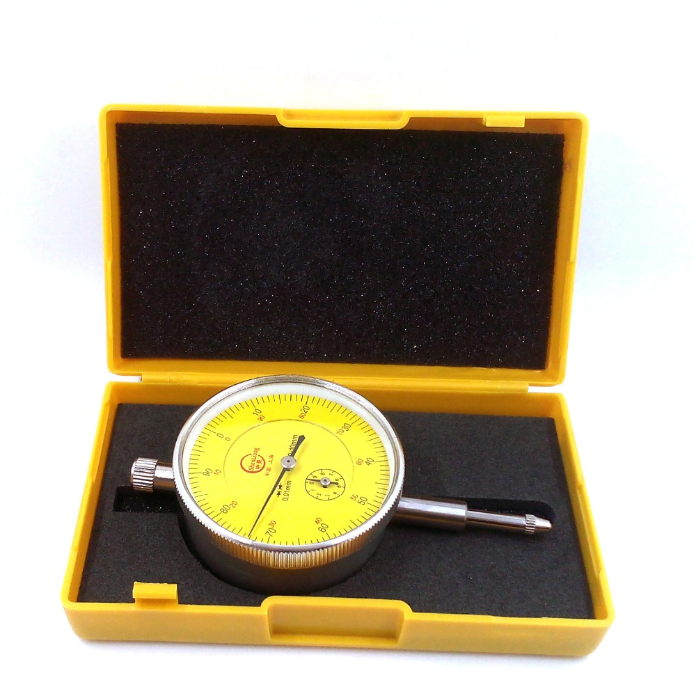 Dial Indicator Gauge 0-10mm Meter Precise 0.01 Resolution Concentricity Test PTSP With Lug Back Measurement Gauge Micrometer