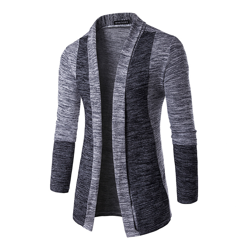 2017 Hot Sale Spring Autumn Cardigan Male Fashion Quality Cotton Sweater Men Casual Patchwork Mens Clothing MZ393