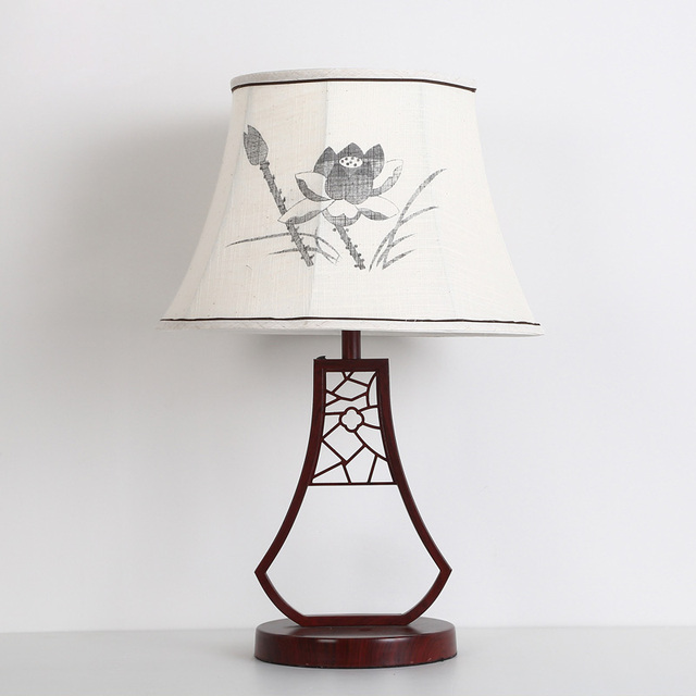 Chinese classical white lotus table lamp study the living room chinese classical white lotus table lamp study the living room bedroom bedside lamp china wind desk aloadofball Gallery