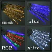 New Year 20cm 30cm 50cm Outdoor Meteor Shower Rain 8 Tubes LED String Lights Waterproof For Christmas Wedding Party Decoration