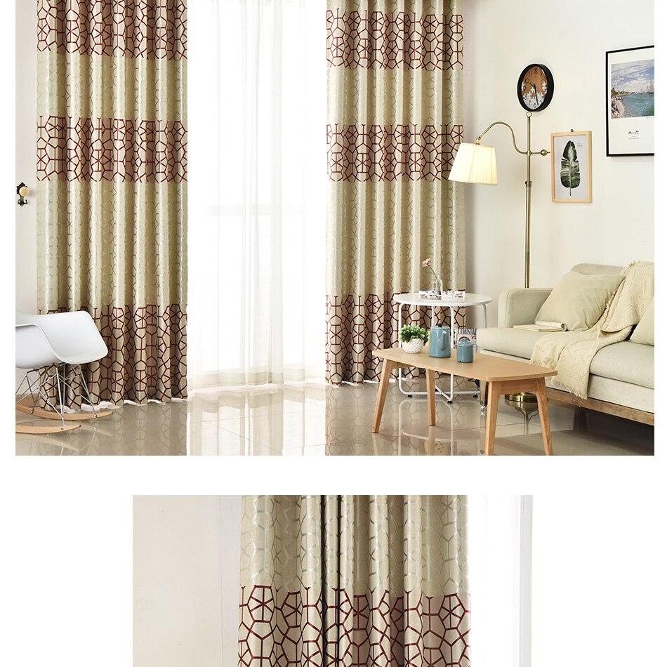 Moderne Dicken Wildleder Geometrische Vorhänge für Wohnzimmer ...